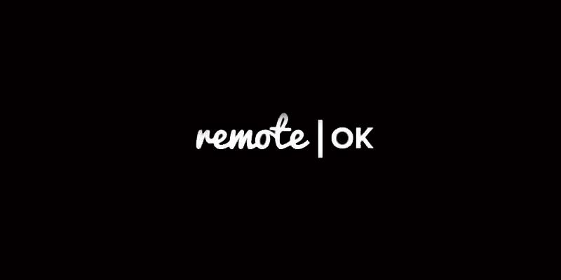 find remote job listing on remote OK