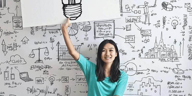 Whiteboard for brainstorming
