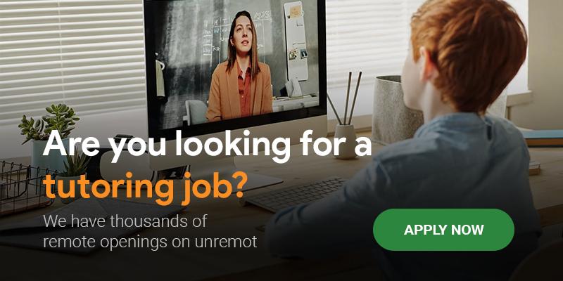 Remote tutoring jobs - unremot.com